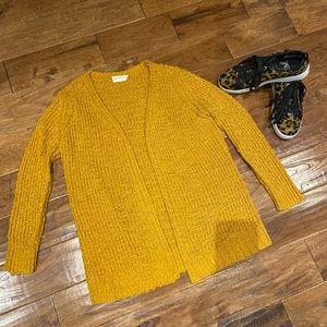 Dreamers Mustard Yellow Knit Cardigan, M/L